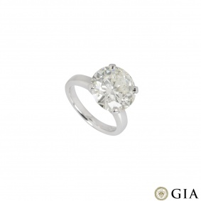 Platinum Round Brilliant Cut Diamond Ring 6.51ct N/I1